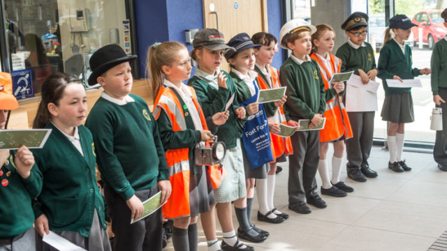 Padiham Green pupils read Operation Stickleback